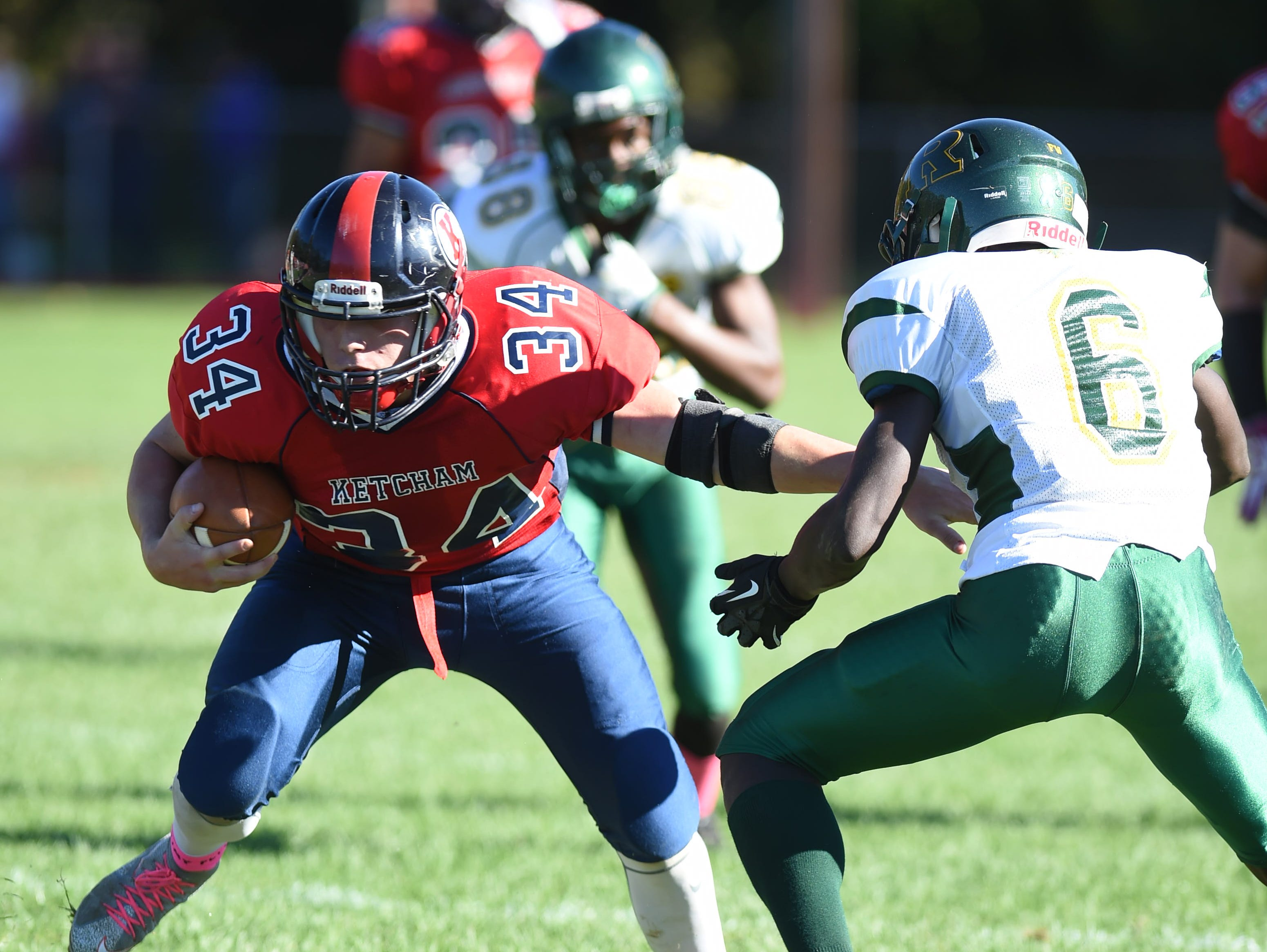 Action from Saturday's game between Ketcham and Ramapo in Wappingers Falls.