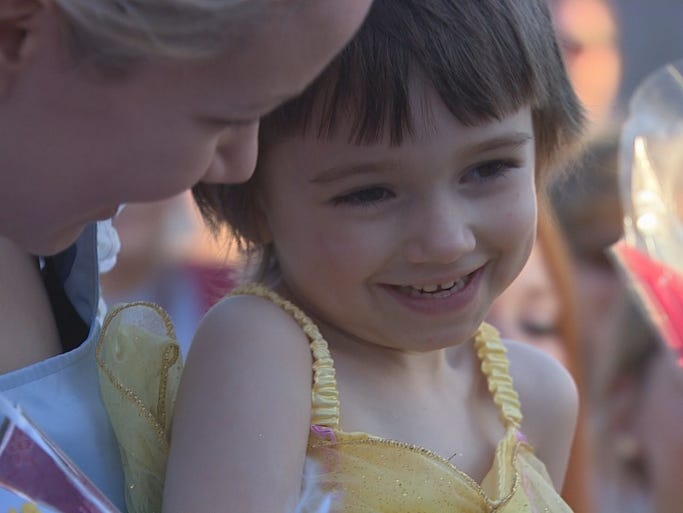 "Hundreds of people came together to celebrate ""Princess Day"" for 5-year-old Claire Lankford who has Rhabdomyosarcoma, a rare form of terminal cancer."