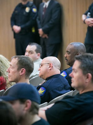 Phoenix Police Chief Daniel V. Garcia at the Phoenix City Council Chambers during a meeting where council members voted to impose a new contract on the city's police union on  May 7, 2014. Citywide pension costs have soared.