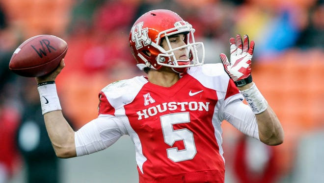 Only a sophomore, John O'Korn is poised for an emergent season at quarterback for Houston.