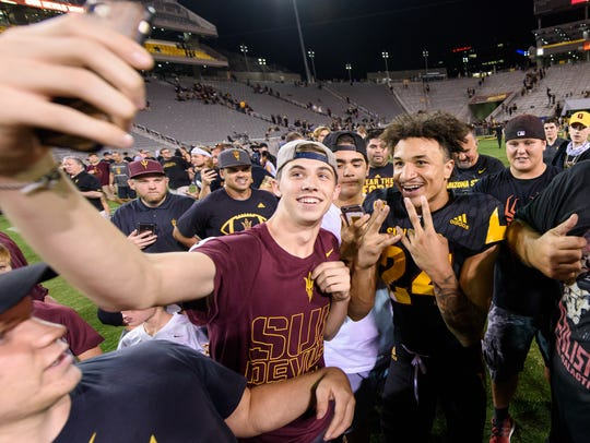 Arizona State University's Chase Lucas (#24) was the