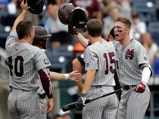 The Mississippi State Bulldogs won the Governor's Cup for the fourth-straight season with an 8-1 win over the Rebels at Trustmark Park on Tuesday night.