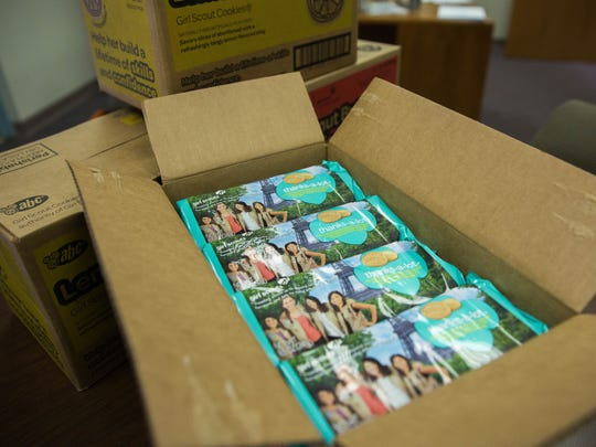 The Red Cross delivered 38 cases of Girl Scout cookies