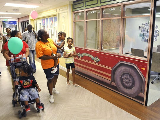 Visitors take tours of the Monroe Carell Jr. Children's Hospital Vanderbilt at Williamson Medical Center, which opens July 1.