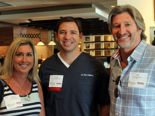 Michelle Spitzer, Dr. Richard Gilbert and Rob Sowers at the Bonita Springs Chamber of Commerce's Summer Lunch Networking Series.