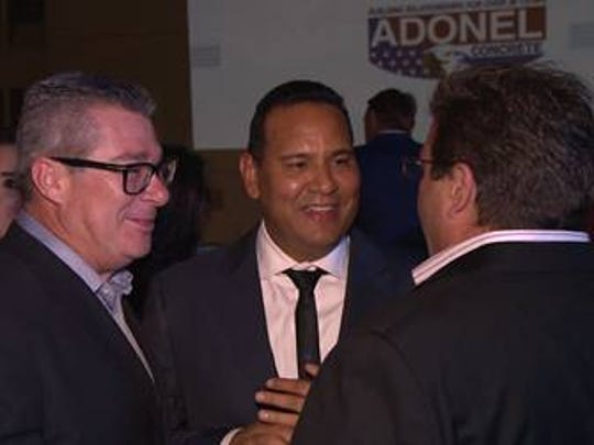 Luis Garcia, owner of Adonel Concrete, was the guest of honor at an awards ceremony.