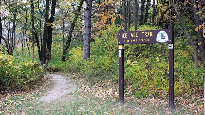 The Ice Age Trail passes through the Pike Lake Unit of the Kettle Moraine State Forest.