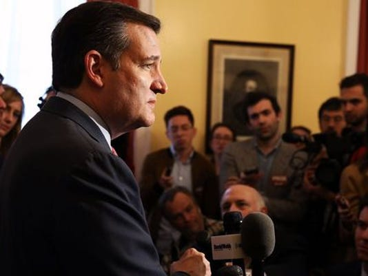 Ted Cruz speaks to the media during an appearance in New York on March 23, 2016. (Photo: Spencer Platt, Getty Images)