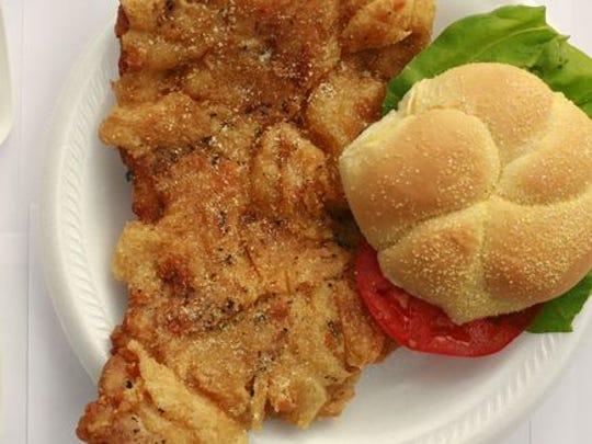 Breaded tenderloin: the shape of Indiana. (Photo: Michelle Pemberton/IndyStar)