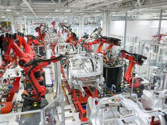 Tesla Body Assembly Line