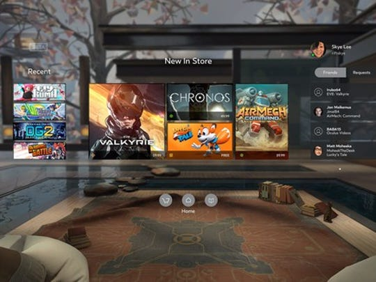 Oculus Home on the Rift.