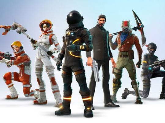 Characters from Epic Games'  Fortnite.
