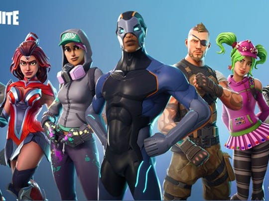 Fortnite video game characters