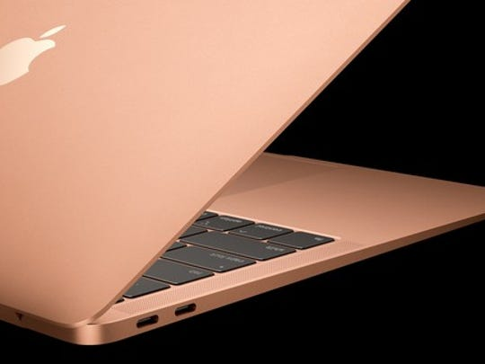 New MacBook Air in gold