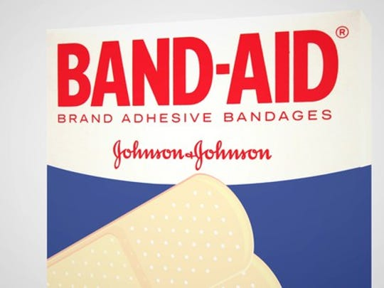 Packaging for Band-Aid bandages.