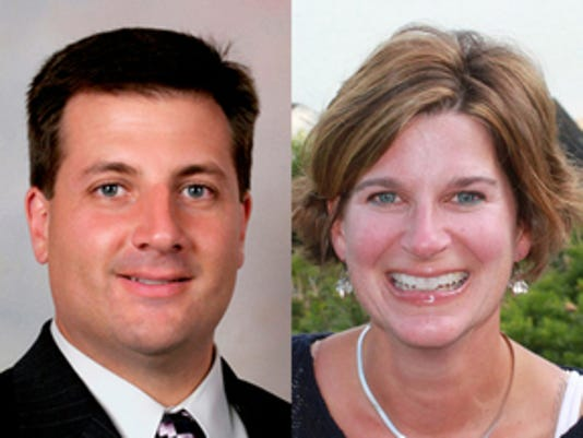 Shown are the two Dallastown School Board candidates. From left, Anthony Pantano and Hilary Trout.  Submitted