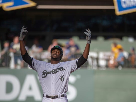 Brewers centerfield Lorenzo Cain has the best WAR (wins above replacement) in the National League at 2.8.