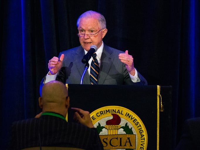 Attorney General Jeff Sessions addresses the Association