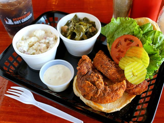 In Nashville, Pepperfire Hot Chicken offers its hot
