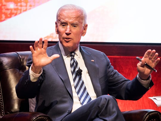 Former Vice President Joe Biden speaks at Vanderbilt