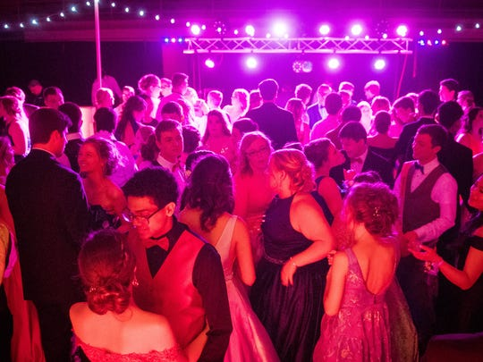 at the Henderson County High Prom Saturday, April 21, 2018.