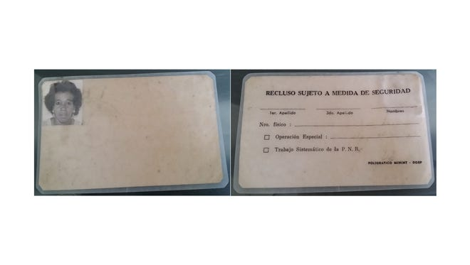An Indialantic woman discovered this possible Cuban identification card on the beach Tuesday, the same morning that the mystery raft washed ashore at Sebastian Beach Inn.