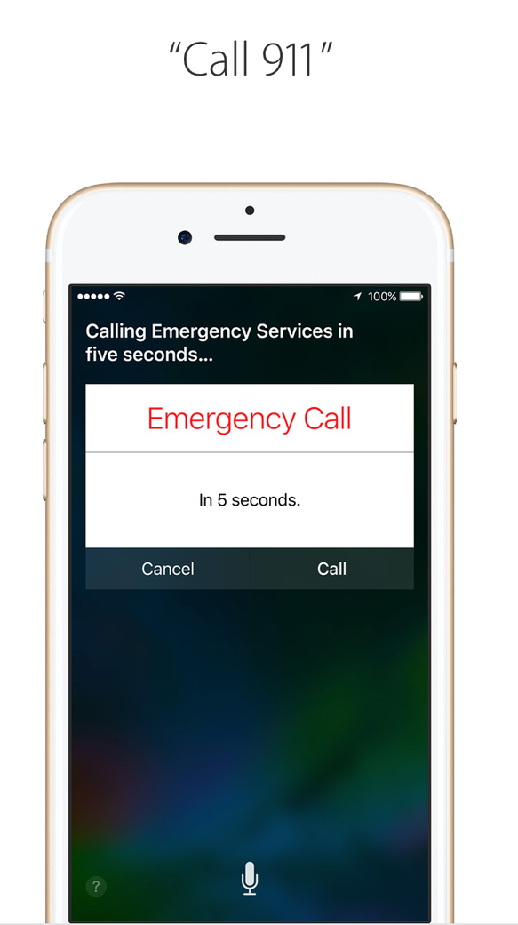 Apple's Siri touts how you can call 911 hands free