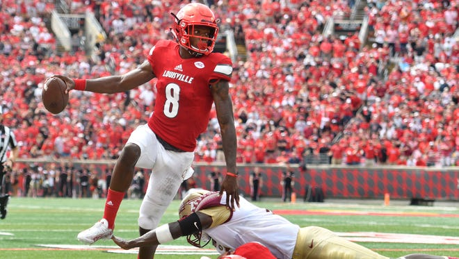 Louisville quarterback Lamar Jackson hopes to experience success once again versus Florida State's defense on Saturday afternoon at Doak Campbell Stadium.