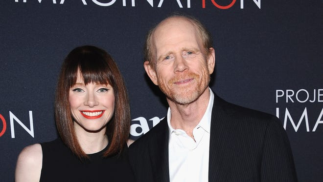 "Bryce Dallas Howard and her father, Ron Howard, attend Canon's ""Project Imaginat10n"" Film Festival opening night at Alice Tully Hall at New York's Lincoln Center on Oct. 24."