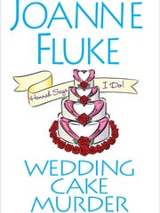 Book Column Wedding Cake Murder