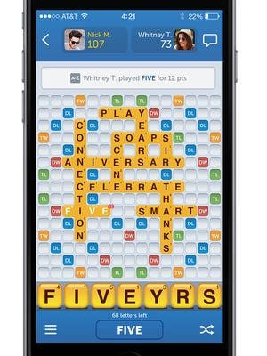 """A screenshot of  """"Words With Friends"""""""