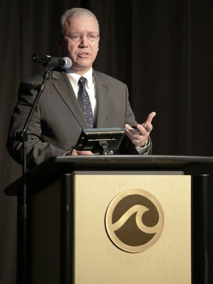 Oshkosh City Manager Mark Rohloff delivers his annual State of the City address Monday, March 20, 2017, at the Oshkosh Convention Center.