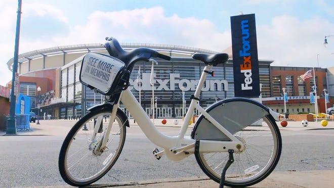Explore Bike Share will demonstrate bike-sharing stations in Memphis this week.