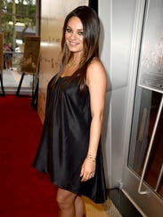 Mila Kunis in June. She and Ashton Kutcher welcomed