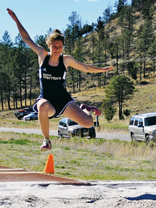 Andi Harrelson took second place for Ruidoso High in the long jump and fourth place in the javelin.