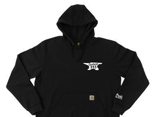 Eminem's E13 hoodie is among the items to be on sale Monday, March 13, 2017, at Carhartt's Detroit shop.
