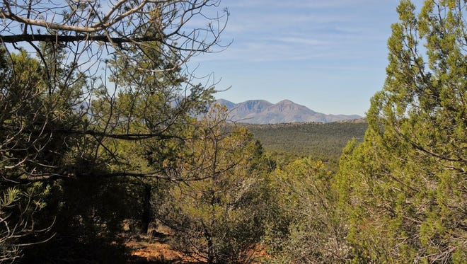 The view of the Mazatzal Mountain from Round Valley Trail near Payson.