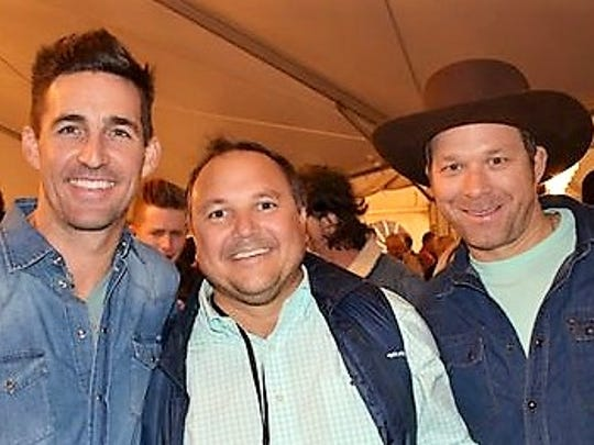 Country superstar Jake Owen (from left) Dale Sorensen Jr. and country singer Scotty Emerick at the VIP reception sponsored by Dale Sorensen Real Estate