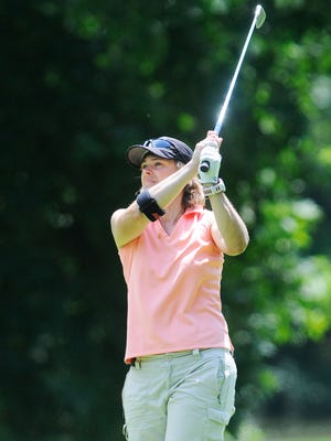 Joanna Beatty competes in the New York State Women's Amateur golf tournament on Thursday in the Town of Poughkeepsie.