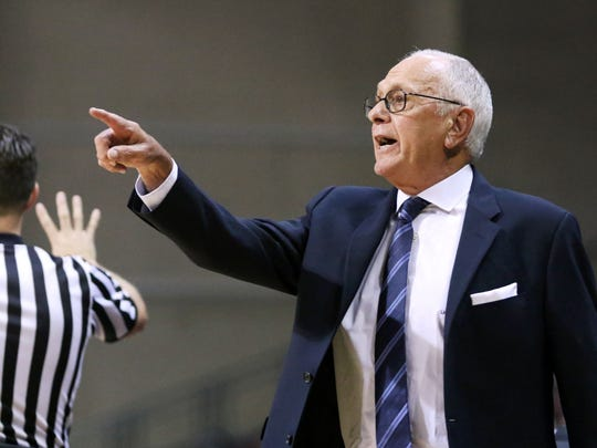 SMU's head coach Larry Brown reacts during the second half of an NCAA college basketball game against Kent State, Tuesday, Dec. 22, 2015, in Las Vegas.