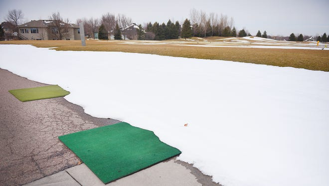 The City of Sioux Falls and Landscapes Management Company talks about changes for the city's three public golf courses at a news conference Thursday, April 5, in at Prairie Green Golf Course in Sioux Falls.