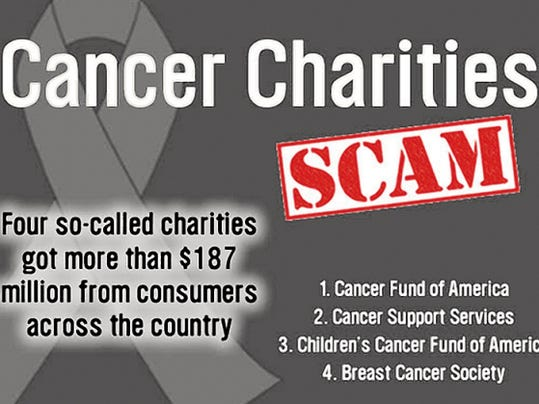 Charity Navigator recommends how to avoid scams, such as the recent national scandal that four so-called cancer charities have successfully scammed the nation's donors of 187 million dollars.