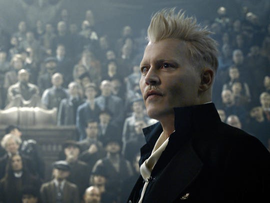"Johnny Depp stars in ""Fantastic Beasts: The Crimes of Grindelwald."" The movie opens Thursday at Regal West Manchester Stadium 13 and R/C Hanover Movies."