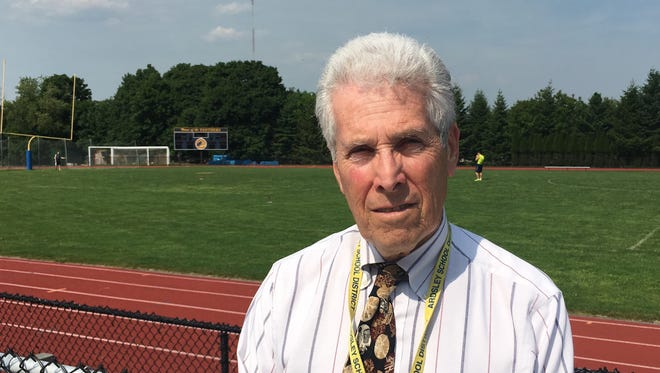 Hank Roth, the Ardsley athletic director, is pictured at Ardsley High School on May 26, 2016. He will retire in June after 55 years as an educator.