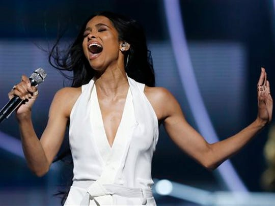 Ciara performs in Newark, New Jersey in this file photo.