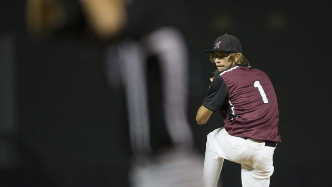 Hamilton pitcher Zach Pederson makes coach Mike Woods' all-time baseball lineup card.