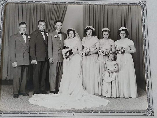 Mary Grams, now 84, was married in 1952. She lost her