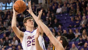 Former Ashwaubenon standout Bennett Koch has been a key player in Northern Iowa's run to the NCAA tournament.