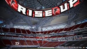 A new Daktronics display for the home of the Atlanta Falcons.
