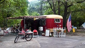 Port Crescent State Park will have a vintage camper show on  Saturday.